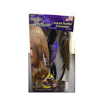 Snap-on Feathers L'ectric Purple & Chestnut 2 Pack