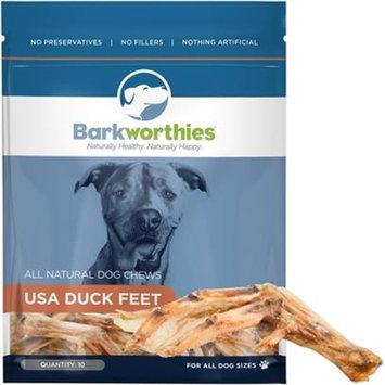 Barkworthies Duck Feet [Options : 10 Pack]
