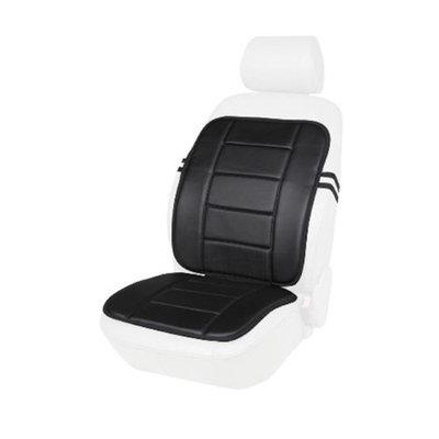 Kool Kooshion 60-287005B Faux Leather Full Seat Cushion, Black
