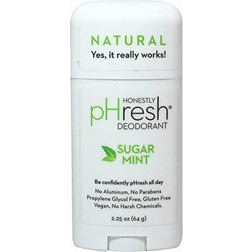 pHresh 100% Natural Deodorant Stick Sugar Mint 2.25 Ounces by Sparklehearts by Sparklehearts