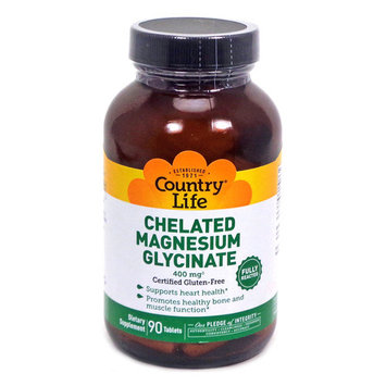 Chelated Magnesium Glycinate By Country Life - 90 Tablets