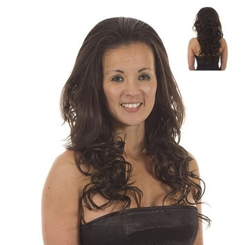 Brown Long Curly Half Wig Hairpiece | Add Extra Length and Volume | Hair Extensions | Hayworth: Mid Brown