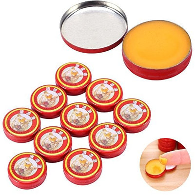 zinnor 10pcs Essential Tiger Balm Oil QingLiangYou Headaches Carsickness Itching Relief