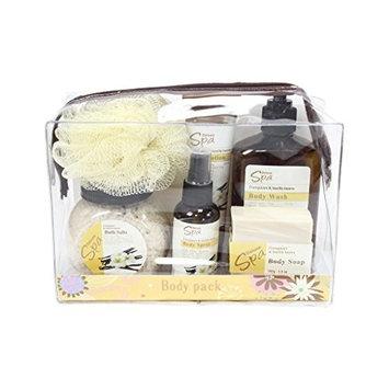 Deluxe Spa Travel Body Pack Gift Set Frangipani & Vanulla Beans