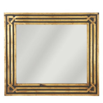 Filament Design Sundry 32 in. x 28 in. Palermo Black and Gold Framed Wall Mirror