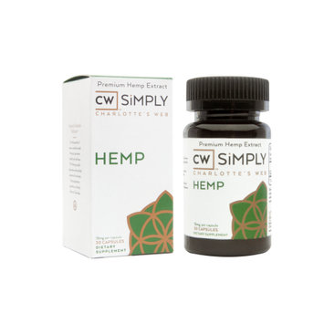 Charlotte's Web By The Stanley Brothers CW SiMPLY Hemp Capsules, 30 Ct