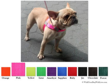 Walk Your Dog With Love No-Choke No-Pull Front-Leading Dog Harnesses, Sport Edition, Sizes From 5 to 250 lbs, Bright Pink
