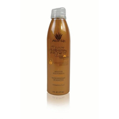 Aloe Up SPF 4 Dark Tanning Oil Continuous Spray, 6 Oz
