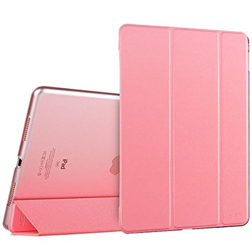 iPad Pro 9.7 Case, ESR® iPad Pro 9.7 Smart Case Cover [Synthetic Leather] and Translucent Frosted Back Magnetic Cover with Sleep / Wake Function [Ultra Slim] [Light Weight] for Apple iPad Pro 9.7 inch Case [Launched 2016] (Pink)