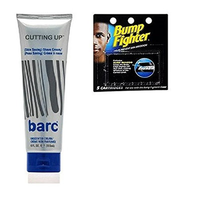 Barc Cutting Up, Unscented Shave Cream, 6 Oz + Bump Fighter Cartridge Refill, 5 Ct + FREE LA Cross Manicure 74858