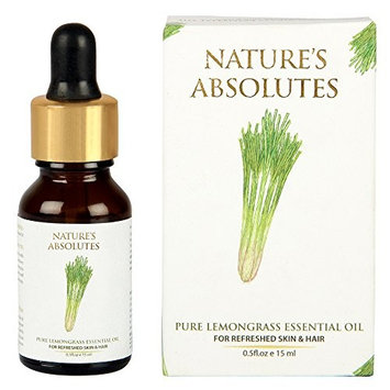 Nature's Absolutes Pure Lemongrass Essential Oil For Aromatherapy, Massage & Aroma Diffusers & Hair And Skin
