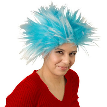 Thing 1 Thing 2 Blue Wig Cat In The Hat Hair Costume Book TV Rick Sanchez Morty