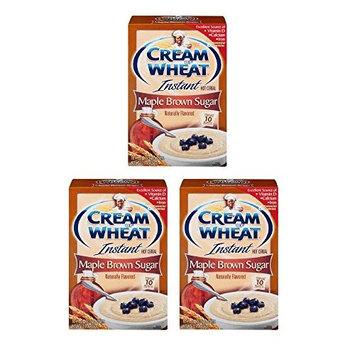 Cream of Wheat Instant Hot Cereal Maple Brown Sugar - 10 CT (3 boxes)