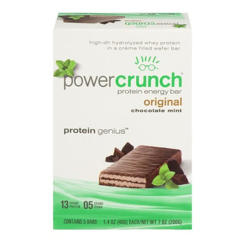 Power Crunch Protein Energy Bar, Chocolate Mint, 13g Protein, 5 Ct