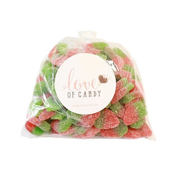 Love of Candy Bulk Candy - Sour Strawberry Gummies - 1lb Bag [Sour Strawberry Gummies]