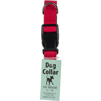 Cape Hobbycraft Medium Red Dog Collar W/Welded D-Ring Buckle-Neck Size 12