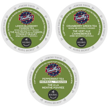 Green Mountain Timothy's Collection of Flavored Teas, Tangy and Refreshing Flavors Blended with Your Favorite Teas to Revitalize You, 72 Count
