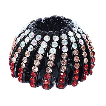 BranXin - Hairpin Women Hair Accessories Bud Hair Clip Nest Shape Ponytail Holder Crystal Headear [ Red ]