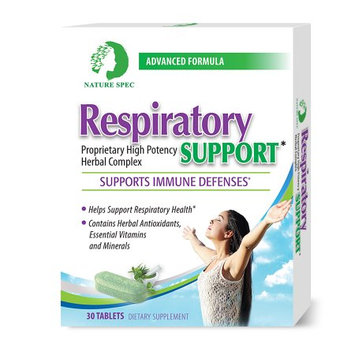 Nature Spec Respiratory Support Supplement High Potency Herbal Complex 30 Tablets