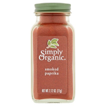 Frontier Co-op Simply Organic, Spice Smoked Paprika Bottle, 2.72 Oz (Pack Of 6)