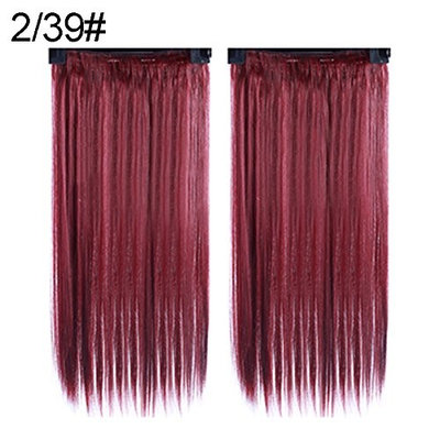 Afco Women Wig,Fashion Full Head Clip-on Hair Extensions Long Straight Hairpiece Cosplay Daily Party Wig Natural