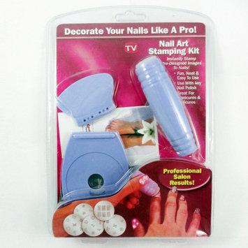 Atb Nail Art Stamping Kit Stamp Stamper Scraper 5 Image Plates Templates Holder Tool