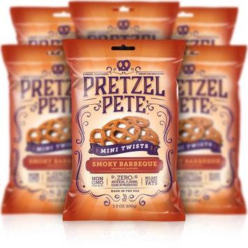 Pretzel Pete, Inc. Pretzel Pete Mini Pretzel Twists, Smoky Barbeque, 3.5 Oz, Pack of 6
