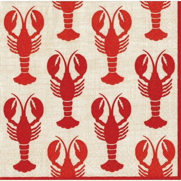 Entertaining with Caspari Lobsters, Luncheon Napkin, Pack of 20