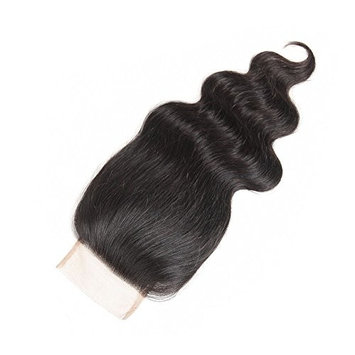 Body Wave Lace Closure Free Part 4x4inch Brazilian Human Hair Lace Top Closure Natural Color (Free Part 16)