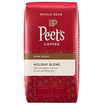 Peet's Coffee Holiday Blend Dark Roast Whole Bean Coffee, 28 oz Bag [Holiday Blend]