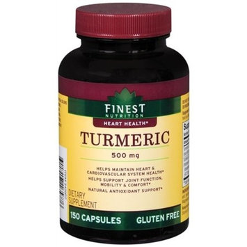 Finest Nutrition - Turmeric - Heart Health - 500 Mg - 150 Caplets