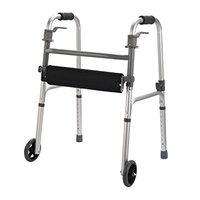 HomCom Folding Mobility Rollator Walker w/ 2 Wheels and Stool