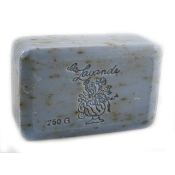 La Lavande Lavender Flower Soap, 250g wrapped bar, Imported from France by La Lavande