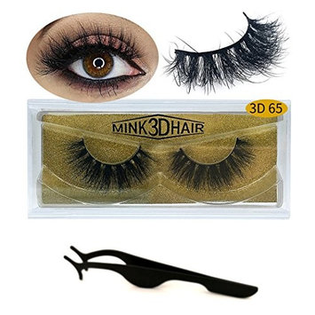 3D Mink Lashes Hand-made Dramatic Makeup Strip Lashes 100% Fur Fake Eyelashes Thick Crisscross Deluxe False Lashes Black Nature Fluffy Long Soft 1 Pair Package