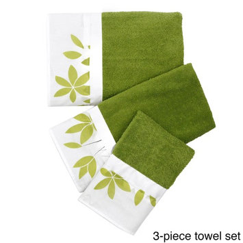 Flor Verde Green and White Bath Accessory Collection by Bed Bath N More
