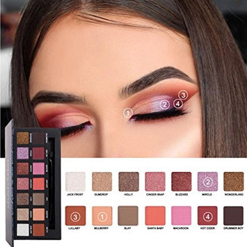 Hatop Eyeshadow Palette 14 Colors Eye Shadow Powder Make Up Palette Cosmetics