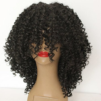 PlatinumHair Fashion Style Black Kinky Curly Wigs Synthetic None Lace Wigs Heavy Density Glueless Synthetic Wigs 18-20