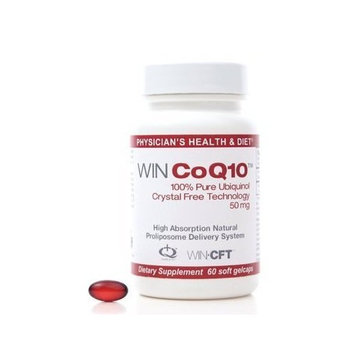 WIN CoQ10 Pure Ubiquinol 50 milligram (60 Count/Servings)