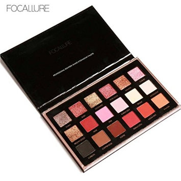 FOCALLURE 18 Colors Pearlized Color Eyeshadow Powder Eye Shadow Palette Set for Naked Luxury Golden Matte Nude Bronze or Smokey Eye Makeup By YOYORI