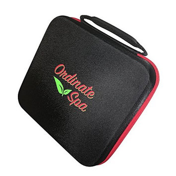 Ordinate Spa 30 bottle Essential Oil Sturdy Storage and Travel Case - Black with Red Zipper