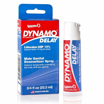 Screaming O Dynamo Delay Spray .75oz with Free Bottle of Adult Toy Cleaner