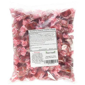 Goetze's Bulls-Eye Caramel Creams, Strawberry, 2 Pound [Strawberry]