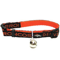 Ahi Mirage Pet Products 300-10 CT Denver Broncos Cat Collar