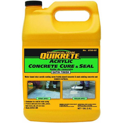 Quikrete Concrete Cure And Seal Satin Finish Concrete Sealer