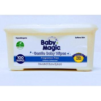Us Nonwovens Baby Magic Gentle Unscented Baby Wipes Tub (100-count)