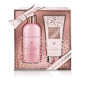 Baylis & Harding Pink Prosecco & Cassis Body Wash and Body Lotion Gift Set