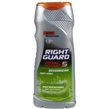 (2 PACK) Right Guard Total Defense 5, 5-in-1 Deodorizing Hair & Body Wash, Refreshing 2 fl.oz each : Bath And Shower Gels : Beauty