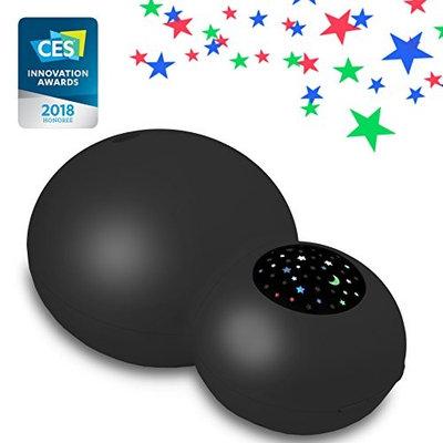 ZAQ Sky Aroma Essential Oil Kids Diffuser LiteMist Ultrasonic Aromatherapy Humidifier - Starry Sky Projection (Black)