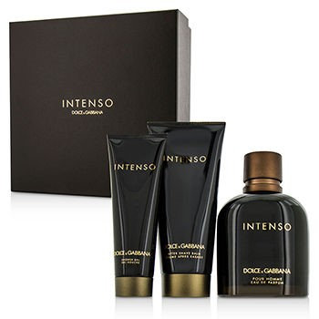 D & G Dolce & Gabbana Intenso Coffret: Eau De Parfum Spray 125Ml/4.2Oz + After Shave Balm 75Ml/2.5Oz + Shower Gel 50Ml/1.6Oz F