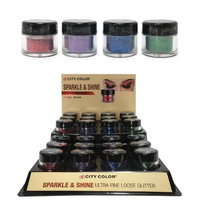 City Color B-0048 F-0056 Sparkle & Shine Loose Glitter - Pack of 4